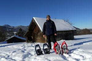 Yoga und Schneeschuhwandern Juergen